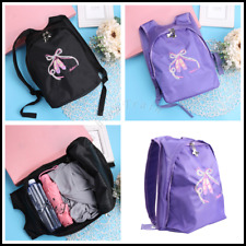 Girl Kids DANCE BACKPACK Gym BAG Ballet Toe Shoes Embroidered Shoulder Bag