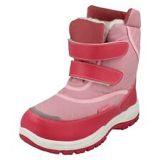 Girls Reflex pink synthetic snow boots fur lined Junior H4052