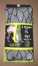 HALLOWEEN STOCKINGS PANTYHOSE TIGHTS LAYER IT UP GINA GROUP 2 PAIRS ONE SIZE
