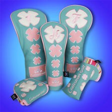 Clover Golf Wood Head Covers Headcovers For Driver Fairway Hybrid Putter Mallet
