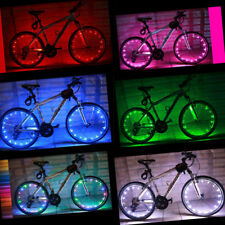 USB Rechargeable LED Cycling Bike Bicycle Wheel Spoke Light Flash 6 Color Choice
