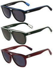 Lacoste Flat Top Rx-able Aviator Sunglasses w/ Two-Tone Frame L828S