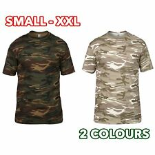 Mens Womens Heavy Camouflage Tee T-Shirt Fashionable Ring Spun Cotton Jersey lot