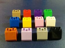 8 lego duplo 2X2 brick slope 45 purple pink brown black castle pick your color