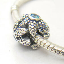 New Authentic Genuine S925 Sterling Silver SPARKLING STARFISH CHARM Bead