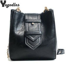 Vintage Crossbody Shoulder Bags For Women Leather Bucket Bags Ladies Handbags