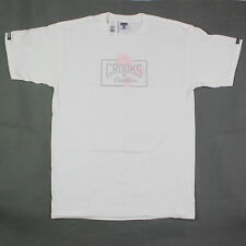 Crooks & Castles The Summer Core Tee in White Sz L NWT 2017 Crooks Free Shipping