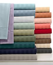 US Deep Pocket Fitted Sheet 1000TC Egyptian Cotton Twin Size Striped Colors
