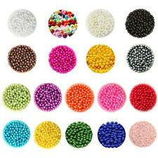 500pcs 6mm Round ABS Plastic Imitation Pearls Jewelry Findings for DIY Art Craft