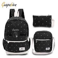 Guapabien 3pcs Sweet Dot Wrist Wallet Portable Backpack