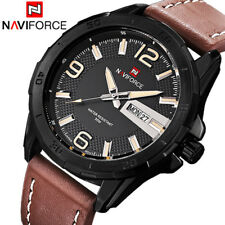 Men Sports Watches Men's Quartz Watch Army Military Leather Strap Casual Watch