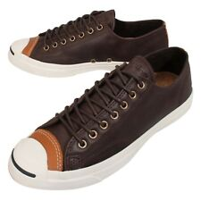 Converse Jack Purcell Jack Brown White Leather Mens Shoes Sneakers 150294C