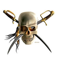 Pirate Skull Novelty Sign | Funny Home Décor Garage Wall Plastic Gag Gift