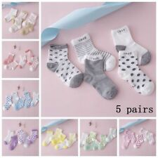 Soft Sock NewBorn 5 Pairs Baby Boy Girl Kids Cartoon Cotton Socks Infant Toddler