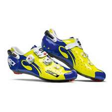 Sidi 2018 Men's Wire Vent Carbon Push Road Cycling Shoes - FLO YELLOW / BLUE -