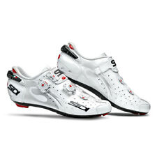 Sidi 2018 Men's Wire Vent Carbon Push Road Cycling Shoes - White - SRS-WVC-WHWH