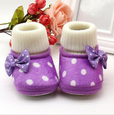 Cute Girl Newborn Warm Toddler Hot Soft Sole Boots Baby Shoes Infant Pop