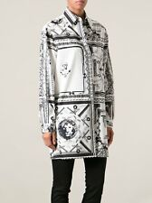 NWT VERSUS VERSACE x ANTHONY VACCARELLO Iconic BAROQUE Long TUNIC Shirt 38 46