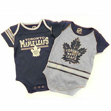 Toronto Maple Leafs NHL Baby Definitive 2-pc Bodysuit Creeper Set
