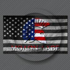 Molon Labe Sticker Decal - American Flag Subdued Come and take them 300 Spartan