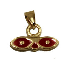 Saint Lucy Eye Pendant 18k Gold Plated with 20 inch Chain - Santa Lucia Charm