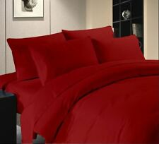 Solid Color Queen Size 1000 TC Egyptian Cotton Bedding Sheet Set/Fitted/Pillow