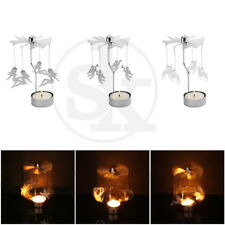 Xmas Rotating Spinning Tea Light Candle Holder Carousel Home Decor Gift 8 Style