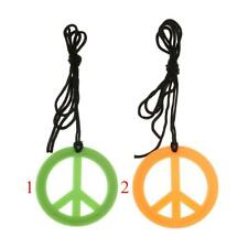 60s 70s Peace Sign Symbol Pendent Necklace Cord Rope Adult Costume Fancy Dress