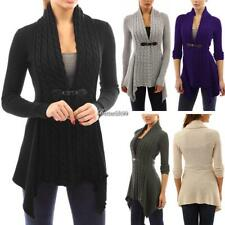 Women Casual Long Sleeve Knitted Cardigan Loose Sweater Jacket Coat BF9