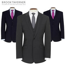 Brook Taverner BR002 Avalino Single Breasted Semi Fitted Jacket Suit Mens Blazer