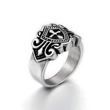 Men's 316L Stainless Steel Ring Cross Vintage GothicTribal Punk Fashion Jewelry