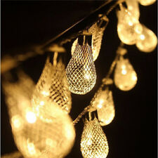 20 Led String LED Metal Drip String Lights Patio Wedding Party Christmas Lights