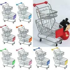 Kids Pretend Play Mini Supermarket Shopping Cart Storage Trolley Christmas Gifts