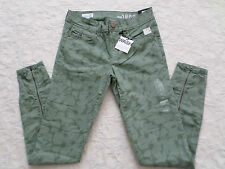 GAP 1969 ANKLE-ZIP LEGGING SKIMMER JEANS WOMEN SIZE 24 SUPERS STRETCH NEW NWT