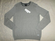 CALVIN KLEIN JEANS SWEATER MENS SIZE XL CREWNECK LONG SLEEVES SOFT GREY NEW NWT