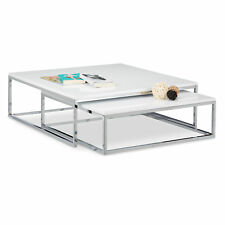 FLAT Coffee Table White Side End Table Large Nesting Tables Nested Tables Flat