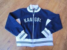 KANGOL Womens TRACK SWEAT TOP JACKET  Casual  NAVY BLUE  UK 8/ 10  SMALL LADIES