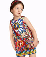 Girls Kids Sleeveless Patterned National Style Party Holiday Pageant Print Dress
