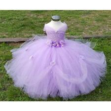 Girls Tutu Dress Birthday Party Ball Gown Sz 2T-10 4 Colors FREE SHIPPING