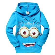 NEW DESPICABLE ME MINIONS BOYS 2017 CLOTHES CHILD KID HOODIES GIFT T-SHIRT TOPS