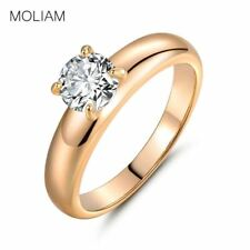 Jewellery Rings for Female Gold Cubic Zirconia Crystals Finger Ring