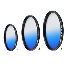 Blue Graduated Color Camera Lens Filter For Canon Camera 40.5/49/62mm