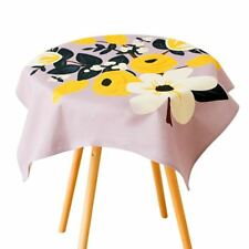 New Style Solid Pattern Colorful Flower Printed Waterproof Table Cloth