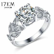 Silver Crystal Flower Rings For Women Jewellery Engagement Ring
