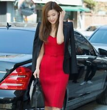Women strapless bandage dress off the shoulder female red bow for party dresses