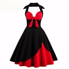 Women Style Sleeveless Retro Swing Party A-line Casual Dress HQ063