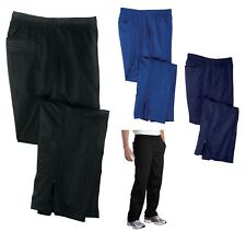 MEN'S RELAXED FIT WARM-UP PANTS, SIDE/BACK POCKETS, LEG ZIPPERS, DRAWCORD XS-4XL