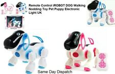 Remote Control iROBOT DOG CAT Walking Nodding Toy Pet Puppy Electronic Light UK
