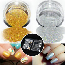 Holographic Nail Glitter Powder Dust Nails Art Dipping Gold Holo Pigment Acrylic