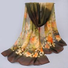 Classical Printed With Multi-Color Silk Soft Chiffon Scarf For Women